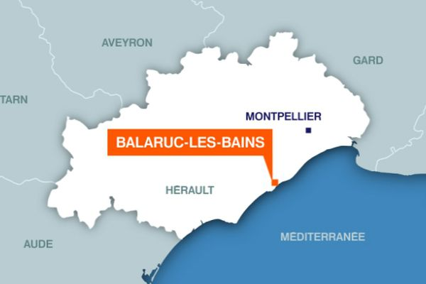 Carte Balaruc-les-Bains (Hérault)