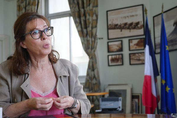 Maïder Arosteguy photographiée le 2 septembre 2020 dans son bureau à la mairie de Biarritz.