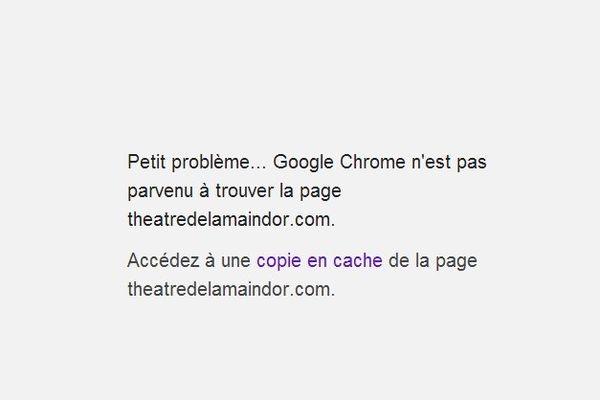 Le site internet du Théâtre de la Main d'Or était inaccessible mardi matin.