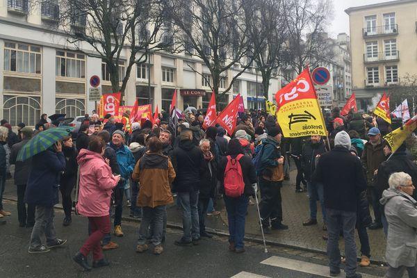 Rassemblement contre la venue de Marine Le Pen à Brest
