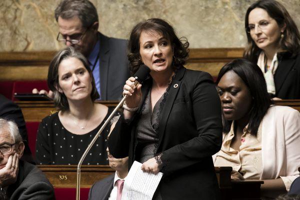 Jennifer de Temmerman à l'Assemblée National en mars 2018.