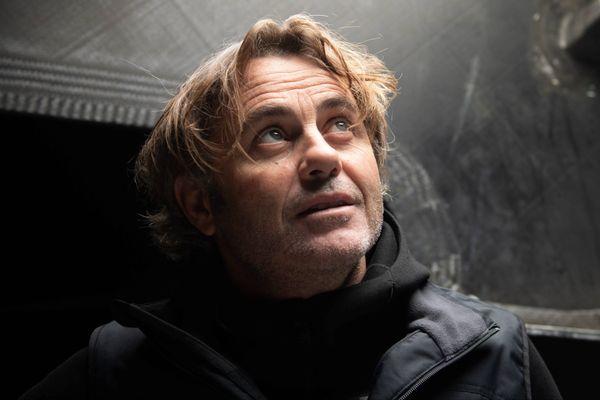 Yannick Bestaven à bord de Maître Coq IV.