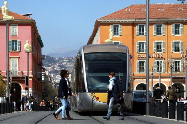 La ligne 1 du tramway de Nice, sur la place Garibaldi (Archives)
