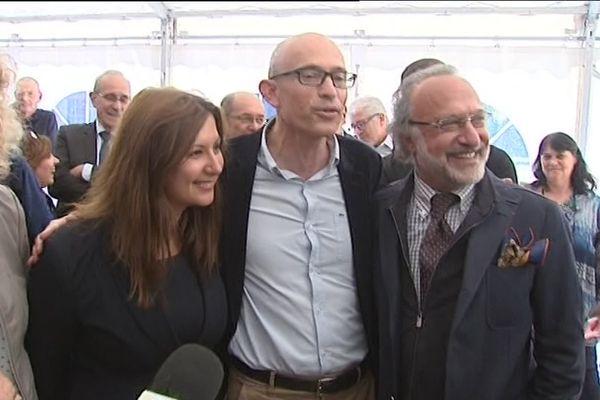 Olivier Paccaud au côté d'Olivier Dassault lors de son élection aux Sénatoriales en 2017
