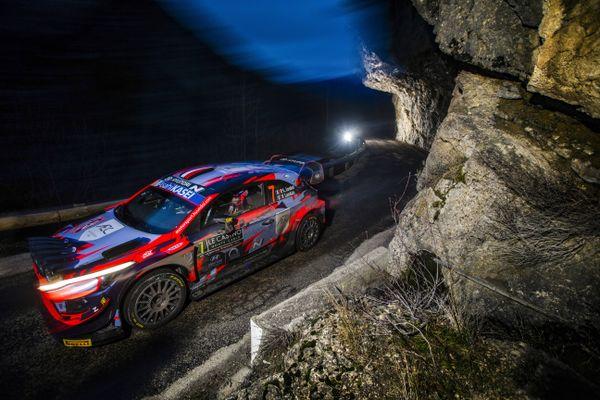 Pierre-Louis Loubet au rallye Monte-Carlo.