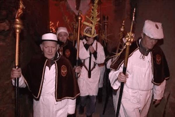 Procession à Venzolasca pour le Jeudi saint, le 24 mars 2016.