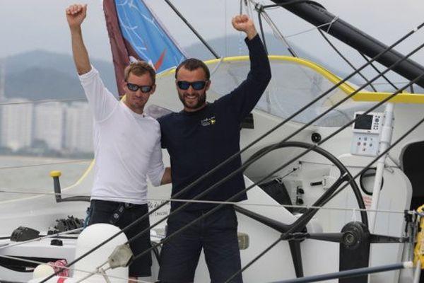Thomas Ruyant et Adrien Hardy.
