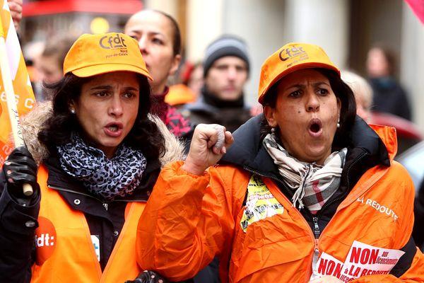 Manifestation de salariées le 21 novembre 2013 à Paris