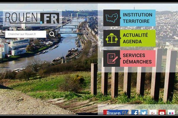 La page d'accueil du tout nouveau site internet de la ville de Rouen