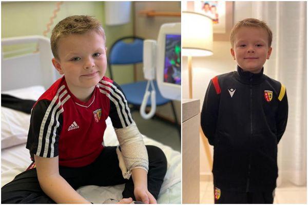Andréas, 7 ans et fan du RC Lens, est victime d'une rechute de leucémie.