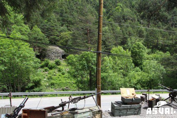 Avant la tempête Alex, l'ouvrage militaire italien était installé un peu plus haut et entouré de végétation.