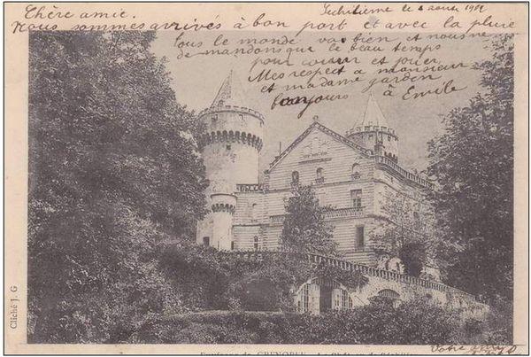 Le château de Séchilienne eût son heure de gloire avant-guerre