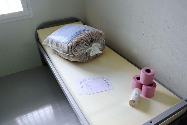 Une cellule du centre pénitentiaire de Rennes-Vezin