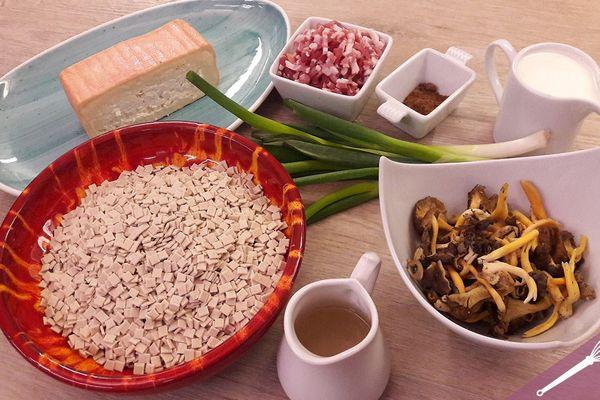 Les ingrédients de la recette de la croziflette au maroilles