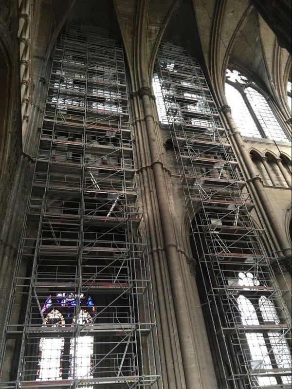 Les travaux ont été réalisés à une trentaine de mètres de hauteur.