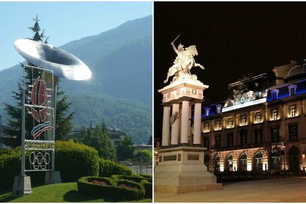 La vasque des Jeux olympiques d'hiver de 1992 à Albertville en Savoie - L'opéra de Clermont-Ferrand