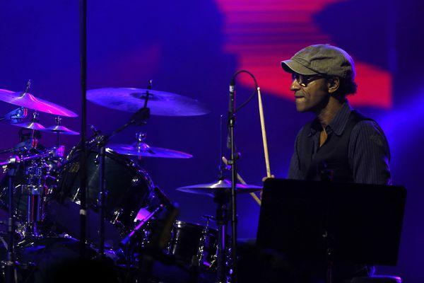 Manu Katché au festival de Monte-Carlo le 23 juillet 2014.