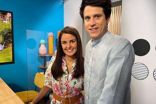 """Tabata et Ludovic Mey, sur le plateau de l'émission """"Vous êtes formidables"""", racontent leur passionnante complicité dans le monde de la cuisine"""