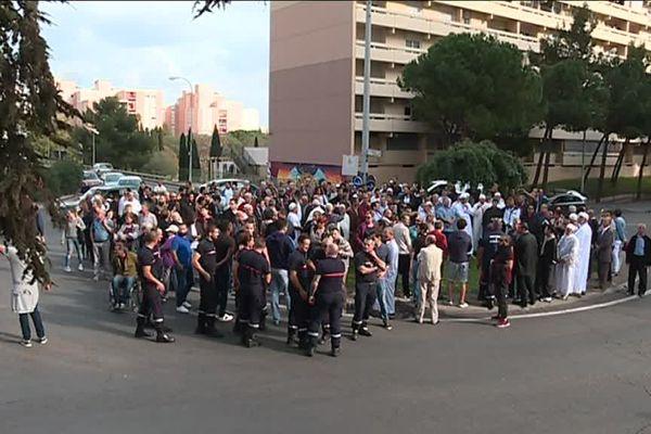 Rassemblement en soutien aux pompiers du Gard ce vendredi après-midi - 20 octobre 2017
