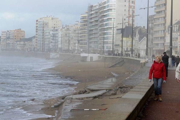 Du vent des orages et de la pluie, les prévisions météo pour cette 5ème semaine de janvier ne sont pas engageantes, ici Les Sables-d'Olonne le 7 janvier 2014