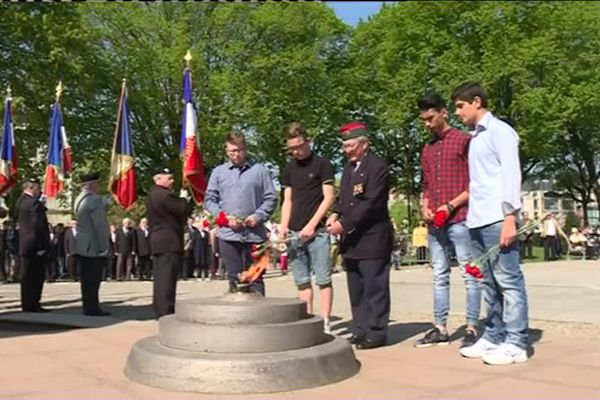 La commémoration du 8 mai 1945, à Belfort, ce dimanche matin.