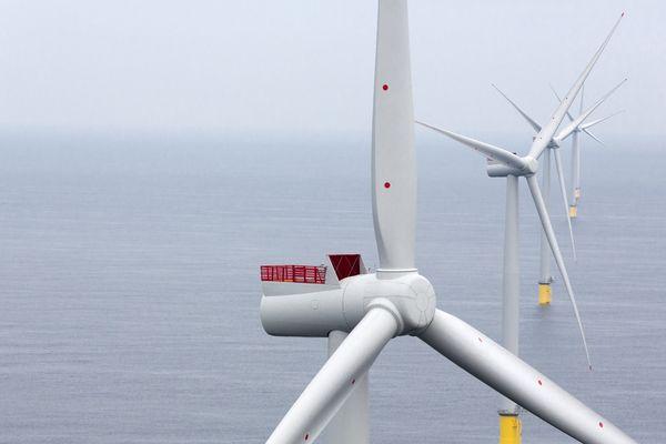 L'éolienne 8 megawatts qui équipera le parc en mer de Dieppe-le Tréport