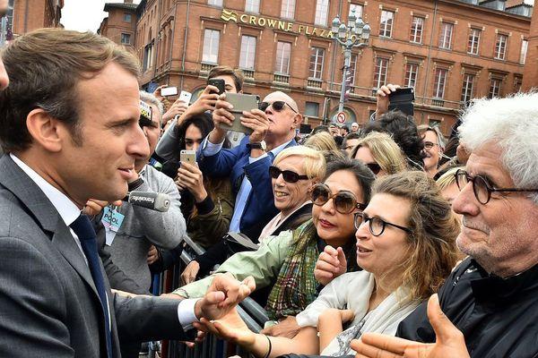 Emmanuel Macron à Toulouse en 2017