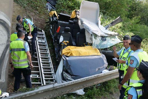Une sortie de route fait quatre blessés à Sierentz, ce dimanche à 14h30