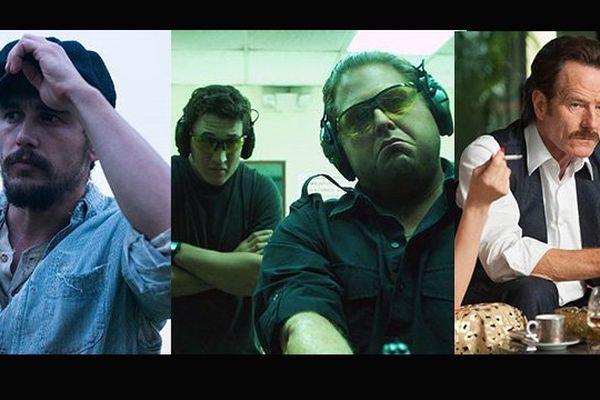 De gauche à droite: James Franco, Miles Teller, Jonah Hill et Bryan Cranston