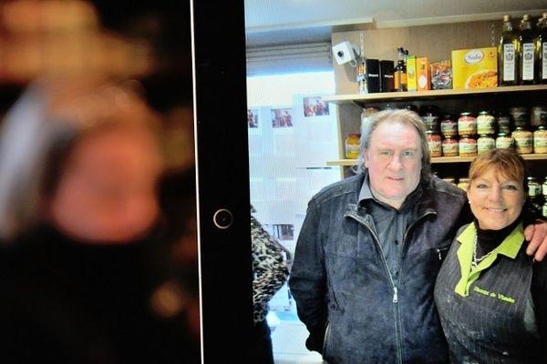 Une photo prise à Néchin (Belgique) avec l'acteur Gérard Depardieu.