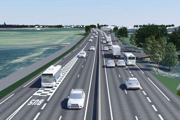 Le projet de réaménagement de l'A351 avec voies de bus dédiées