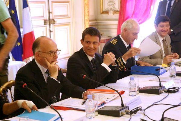 29/05/15 - Visite ministérielle à Marseille en présence de Manuel Valls, Premier ministre