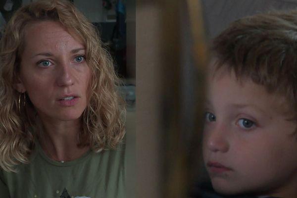 Lucas, 6 ans et sa maman Nancy