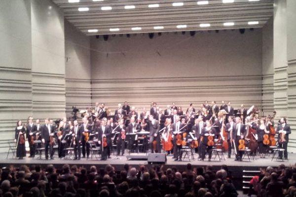 L'Orchestre de Pau Pays de Béarn sur la scène de la Cité des Congrès de Nantes le 1er février 2014