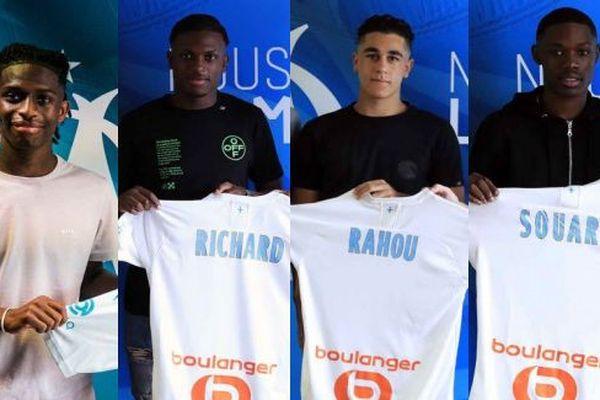 Six nouveaux joueurs ont signé à l'OM, pour des contrats de trois ans.
