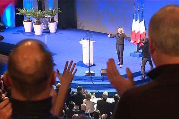 Meeting du FN à Lyon lors de l'élection présidentielle 2017