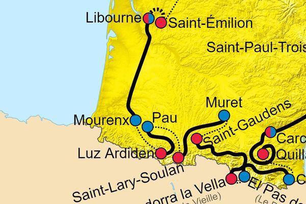 Les étapes du Tour de France 2021 dans les Pyrénées et en Nouvelle-Aquitaine