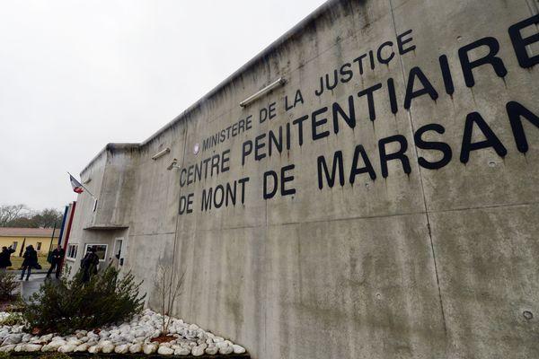 L'entrée du centre pénitentiaire de Mont-de-Marsan photographiée en février 2016.