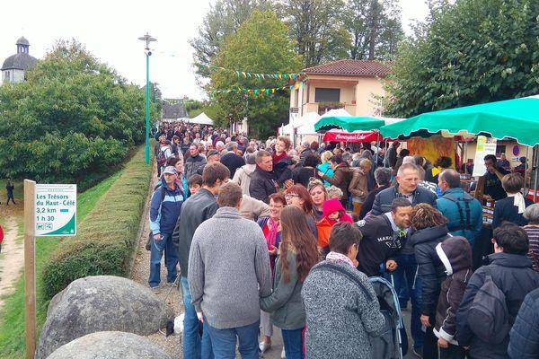 Lors de l'édition 2018, environ 20 000 visiteurs sont venus à la Foire de la châtaigne de Morjou dans le Cantal.