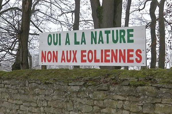 Non aux éoliennes disent certains habitants du secteur de Gendrey dans le Jura