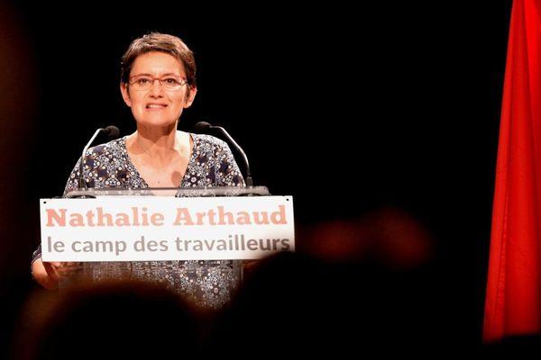 Nathalie Arthaud, porte-parole de Lutte Ouvrière