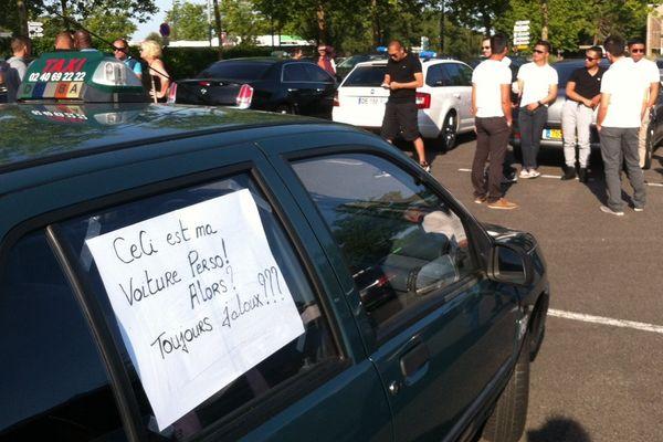Les taxis mobilisés à Nantes contre Uber