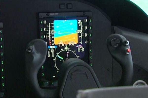 Vue virtuelle du cockpit du Skylander.