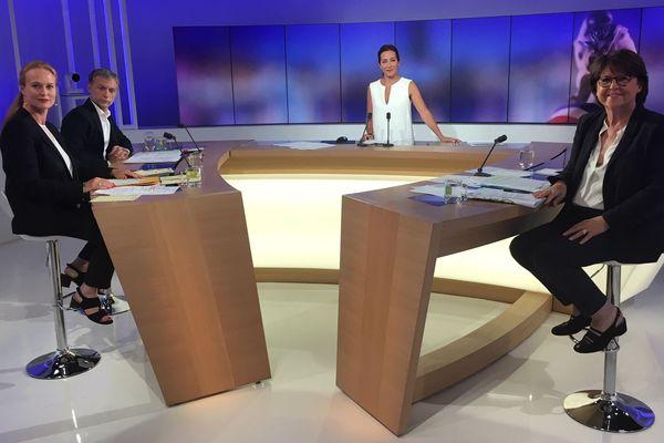 Les trois candidats à la mairie de Lille sur le plateau de France 3 Nord Pas-de-Calais ce jeudi après-midi