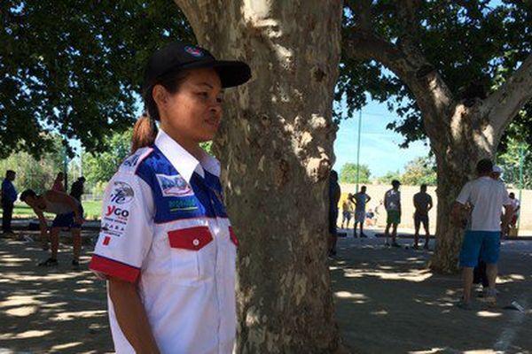 Som, qui participe pour la première fois au Mondial à pétanque. Elle y joue tous les jours à Pataya.