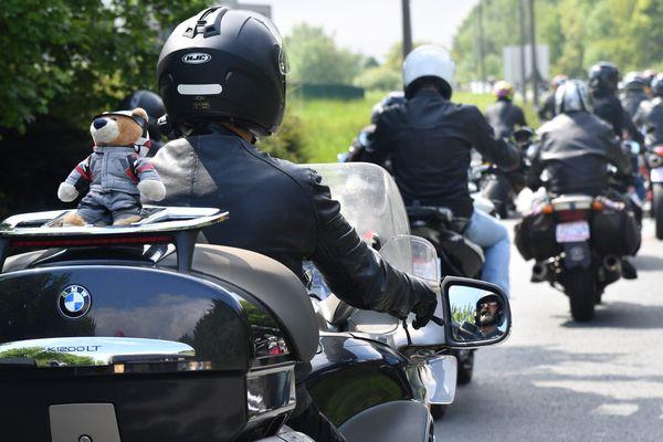 Manifestation de motards en colère le 13 mai 2017 dans la métropole lilloise.