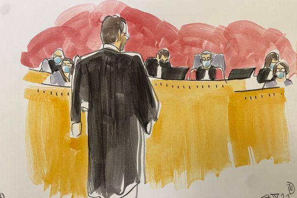Maître Alexandre Martin devant la cour d'assises de Haute-Garonne