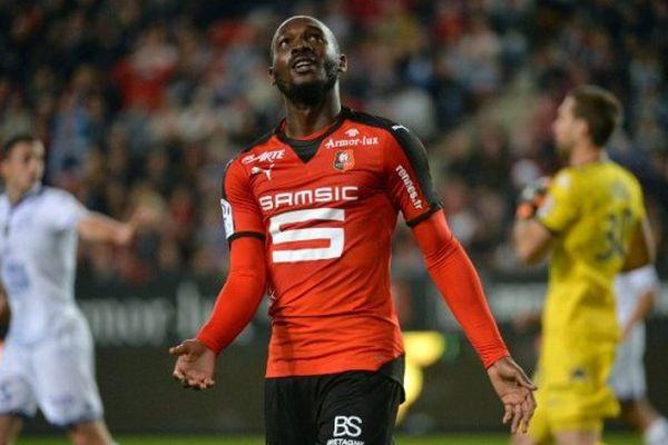 Le joueur rennais Giovanni Sio lors du match entre Rennes et Troyes (26/09/15)