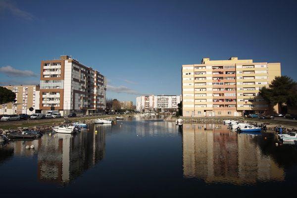 Le quartier de l'Ile de Thau à Sète