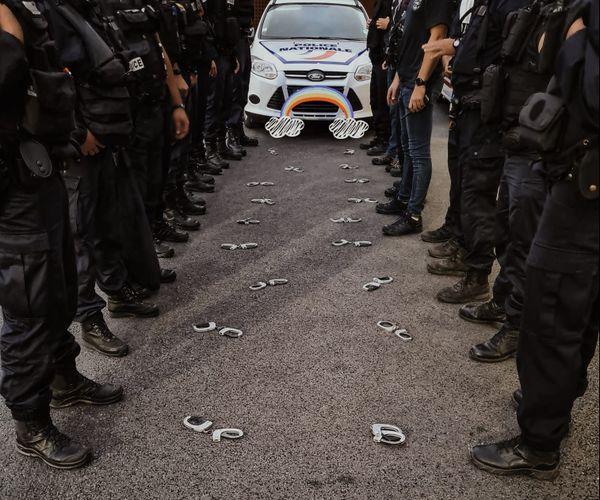 Manifestation des policiers à La Rochelle